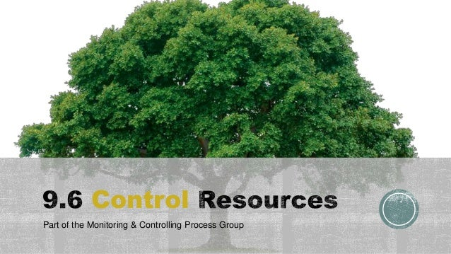 Control Part of the Monitoring & Controlling Process Group