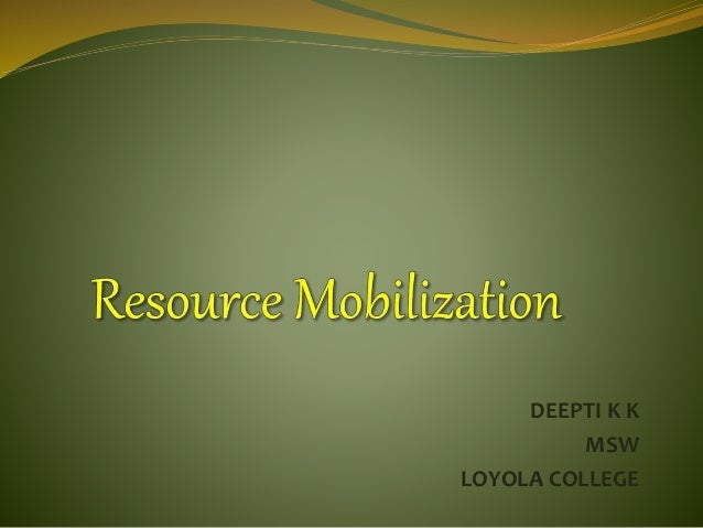 resource mobilization