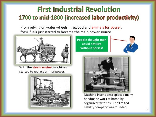 third industrial revolution A new industrial era, which the economist describes as the third industrial  revolution, is under way enormous change is in the offing at the moment.