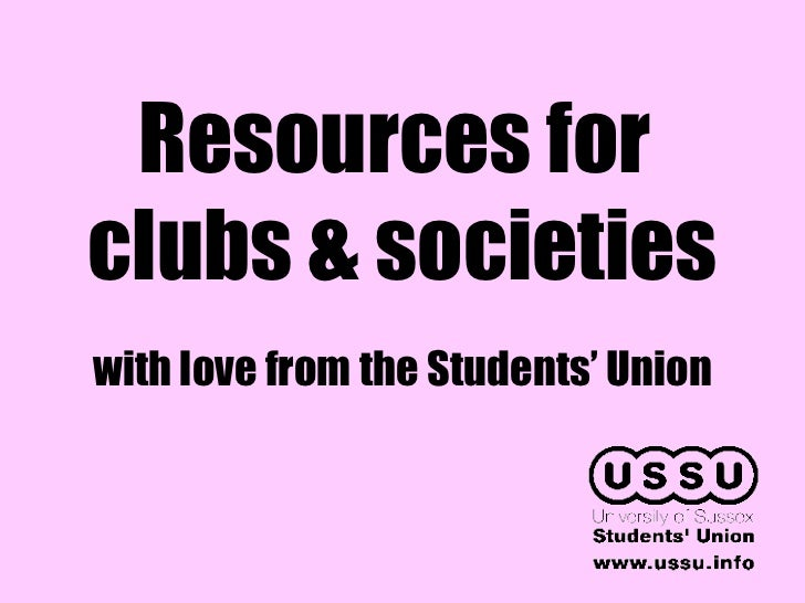 Resources for  clubs & societies with love from the Students' Union