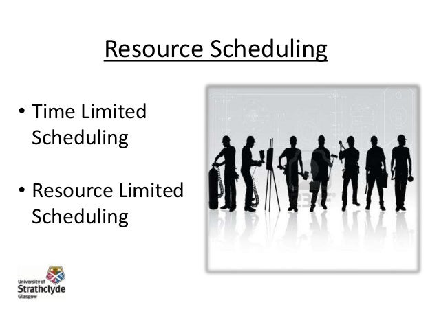 Resource Scheduling • Time Limited Scheduling • Resource Limited Scheduling