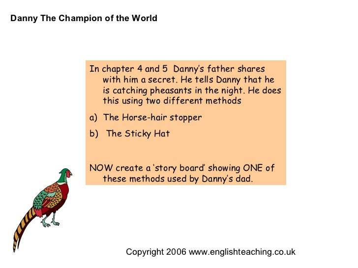 danny the champion of the world in chapter 4 and