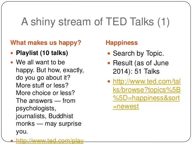 what makes us happy ted