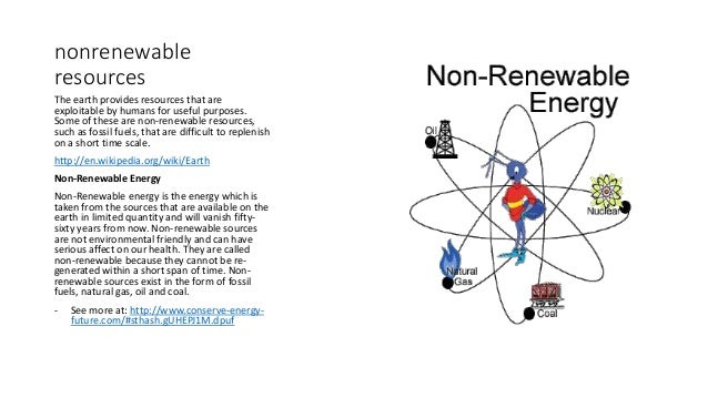 non renewable resource