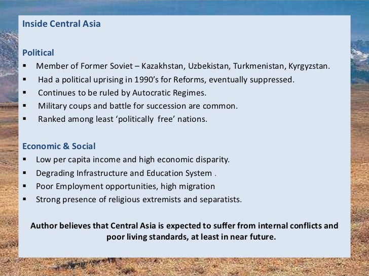 Resources Rivalry In Central Asia