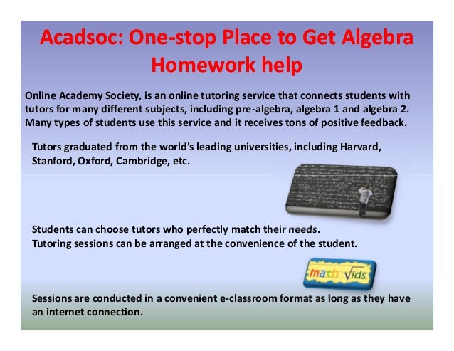 Homework help for algebra 2