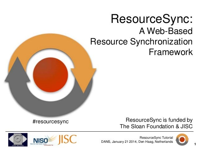 ResourceSync: A Web-Based Resource Synchronization Framework  #resourcesync  ResourceSync is funded by The Sloan Foundatio...