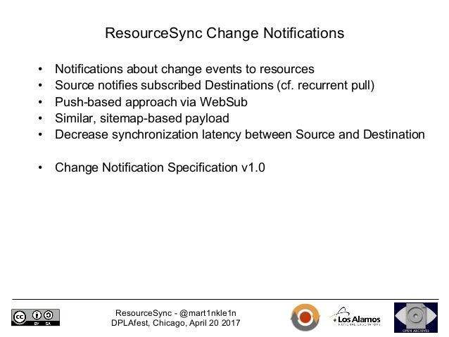 resourcesync overview and real world use cases for discovery harve