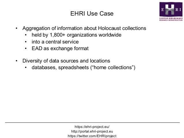 ResourceSync - @mart1nkle1n DPLAfest, Chicago, April 20 2017 EHRI Use Case • Aggregation of information about Holocaust c...