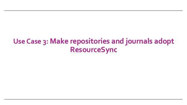 UseCase3:Makerepositoriesandjournalsadopt ResourceSync