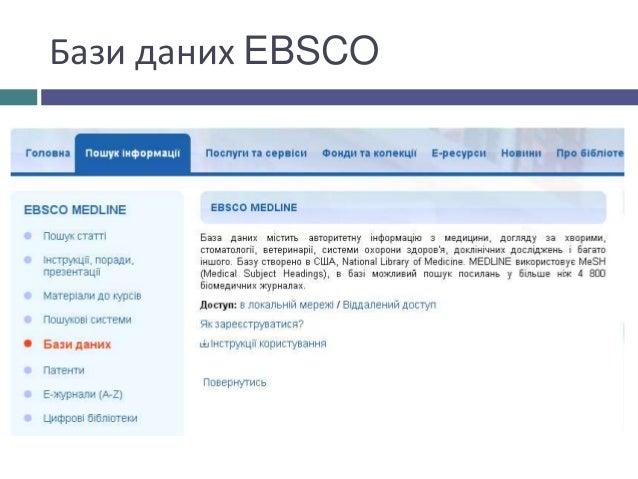 Бази даних EBSCO