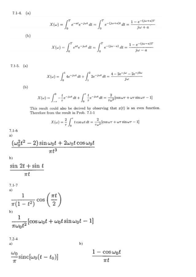 7.1-6 a) b) 7.1-7 a) b) 7.2-4 a) b)
