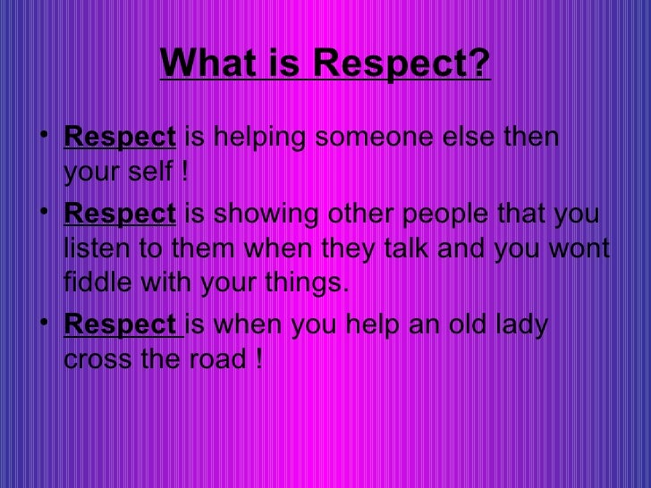 understanding respect To understand patients' conceptions of respect and what it means to be   ensuring or improving respect in clinical and research relationships is surely an.
