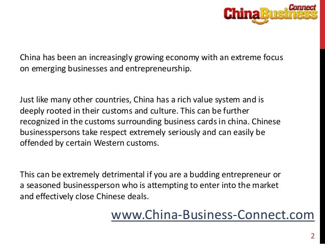 Respecting chinese culture through printing business cards in chinese china business connect 2 reheart Choice Image