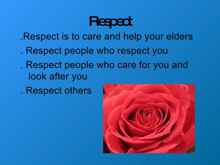 presentation on respect for elders