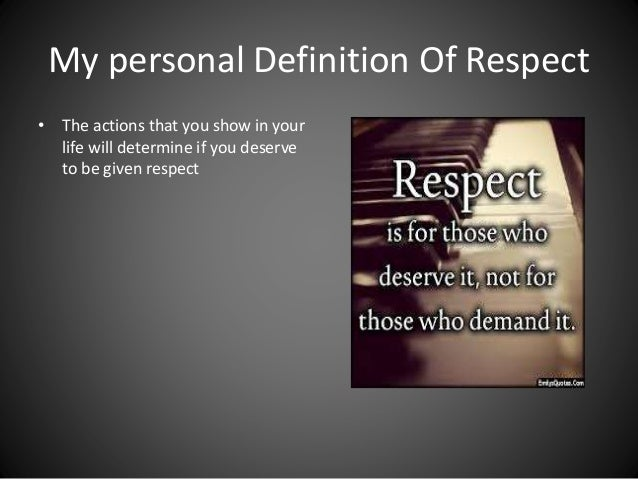 the definition of respect (countable & uncountable) if you have respect for someone, that means you have high regard for them you are considerate towards them synonym: disrespect.