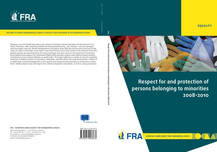 EQUALITY  Respect for and protection ofpersons belonging to minorities                    2008-2010