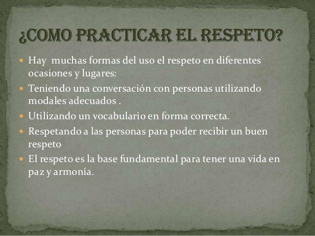 Respeto Slide 2