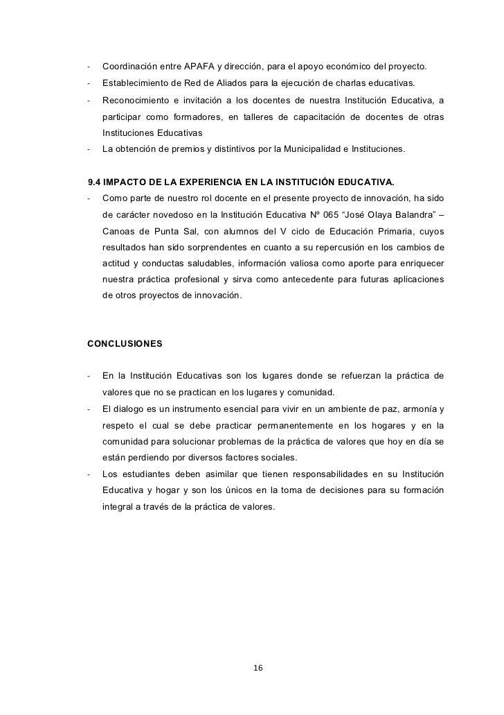 -   Coordinación entre APAFA y dirección, para el apoyo económico del proyecto.-   Establecimiento de Red de Aliados para ...
