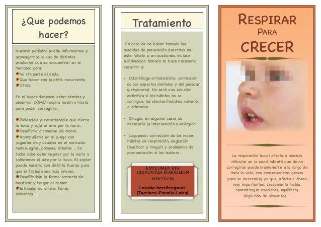 La respiración bucal afecta a muchos niños/as en la edad infantil que de no corregirse puede mantenerse a lo largo de toda...