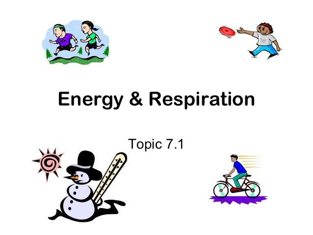 Energy & Respiration       Topic 7.1