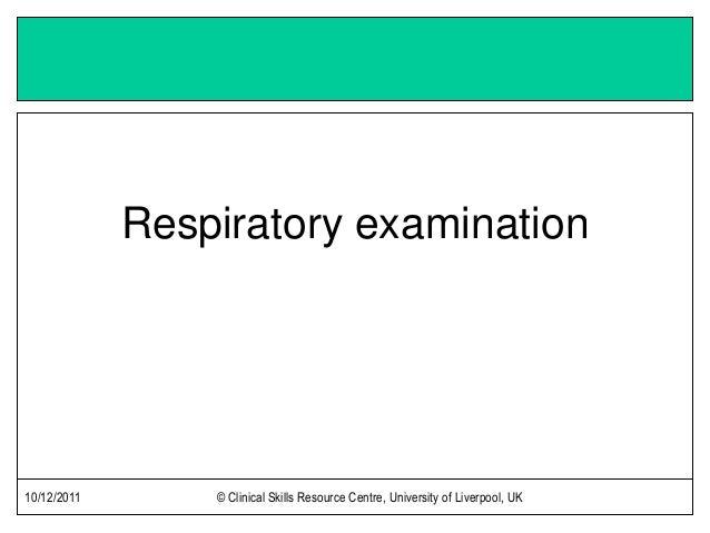 Respiratory Exam
