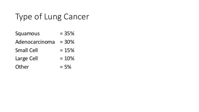 Management of Small Cell Lung Cancer • Chemotherapy & Radiotherapy • Extensive disease = palliation • Surgery only appropr...