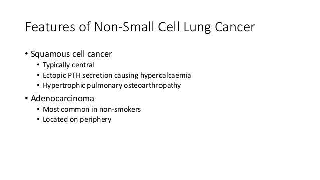 Staging Tumour Description TX Malignant cells in bronchial secretions TIS Carcinoma in situ T0 None evident T1 <3cm in lob...