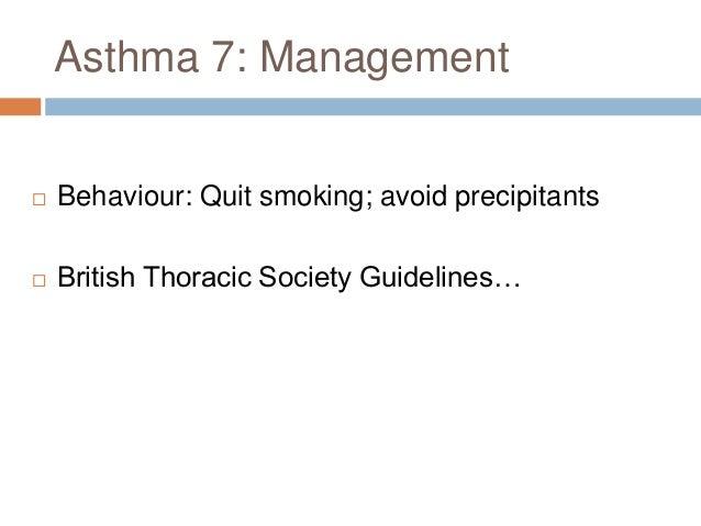 British Thoracic Society Guidelines  Step 1: SABA – PRN (Salbutamol)  Step 2: + standard-dose inhaled steroid (Beclometa...