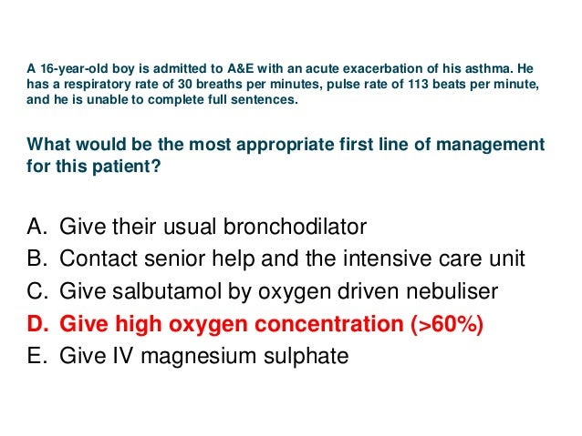 As part of the investigation of breathlessness, a patient has spirometry performed. The following results are available: W...