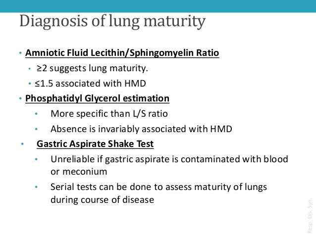 Shake test lung maturity