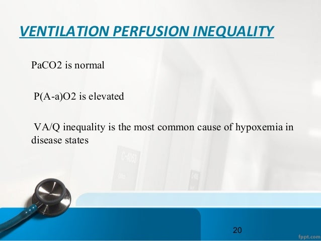 VENTILATION PERFUSION INEQUALITY