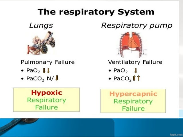 Type 1respiratory failure • Type 1 respiratory failure is defined as a low level of oxygen in the blood (hypoxemia) withou...