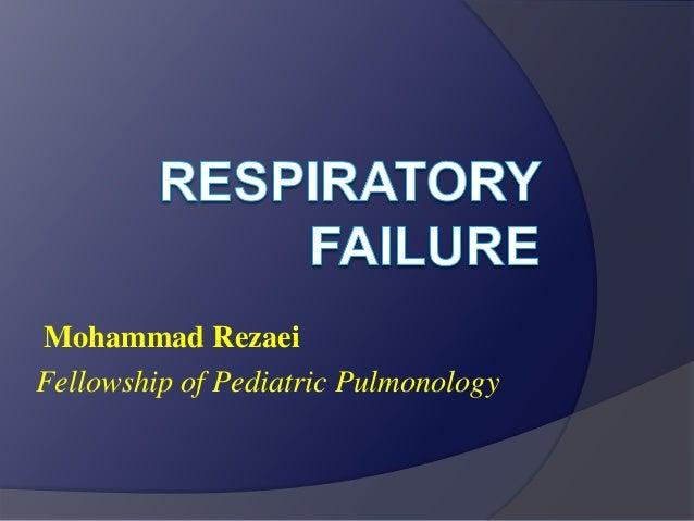 Mohammad Rezaei Fellowship of Pediatric Pulmonology