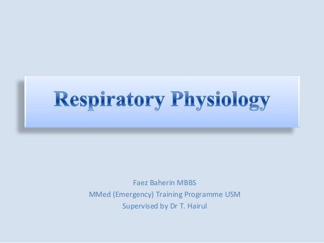 Faez Baherin MBBSMMed (Emergency) Training Programme USM        Supervised by Dr T. Hairul