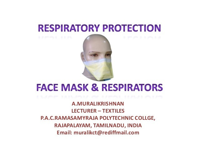 Respiratory protection face masks and respirators