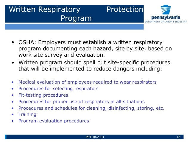 a study of respirators and respiratory protection for employees If there are no contaminants at your worksite or the concentration levels are below the permissible exposure limit (pel), you, as the employer or respiratory protection program administrator, may allow your employees to wear respirators for relief from nuisance dusts or other contaminants, including relief from nuisance odors.