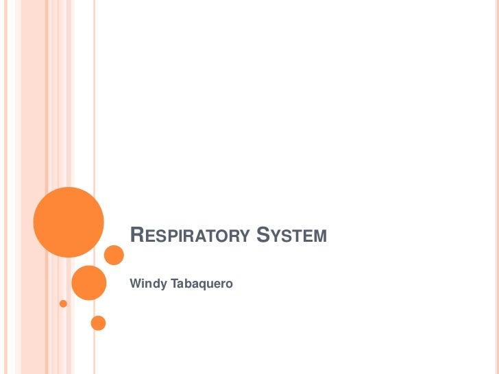 Respiratory System<br />Windy Tabaquero<br />