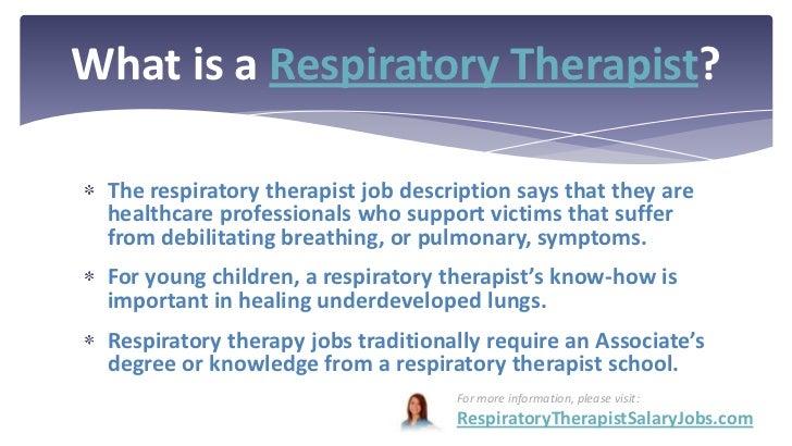 Respiratory Therapist Salary – Respiratory Therapist Job Description