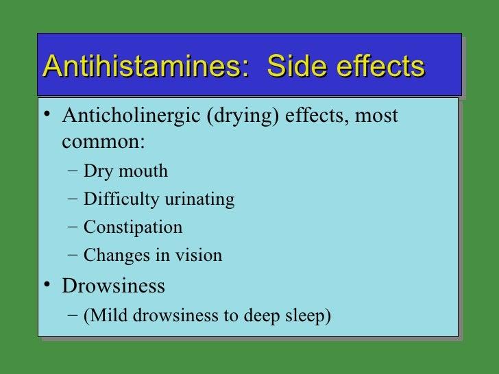 Unwanted side effects of sedating antihistamines
