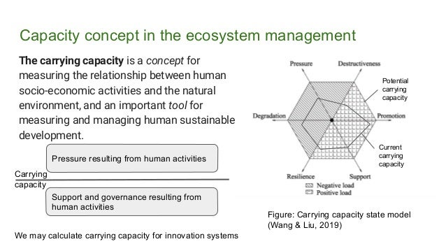 Capacity concept in the ecosystem management The carrying capacity is a concept for measuring the relationship between hum...