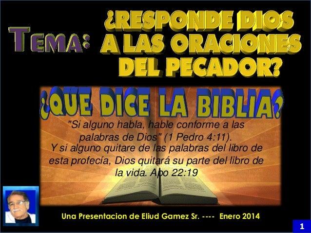 """""""Si alguno habla, hable conforme a las palabras de Dios"""" (1 Pedro 4:11). Y si alguno quitare de las palabras del libro de ..."""
