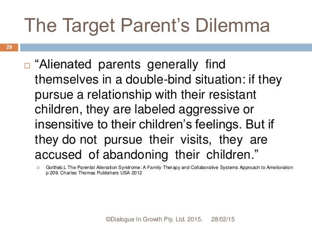 Effects of parental alienation on targeted parents