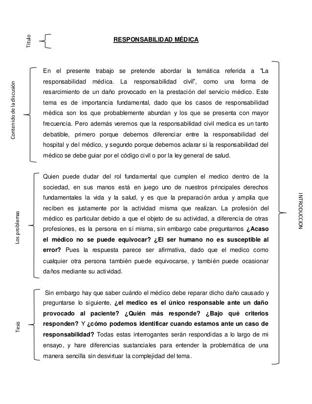 """RESPONSABILIDAD MÉDICA En el presente trabajo se pretende abordar la temática referida a """"La responsabilidad médica. La re..."""