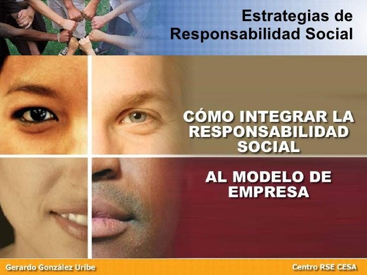 Estrategias de Responsabilidad Social