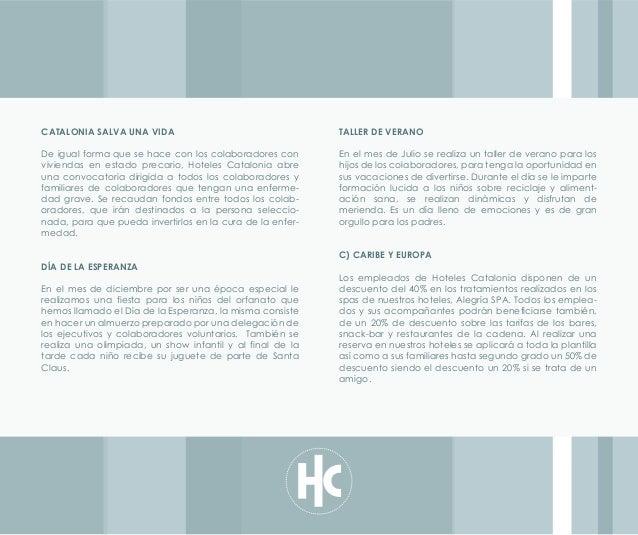 Responsabilidad Hoteles Catalonia 2012
