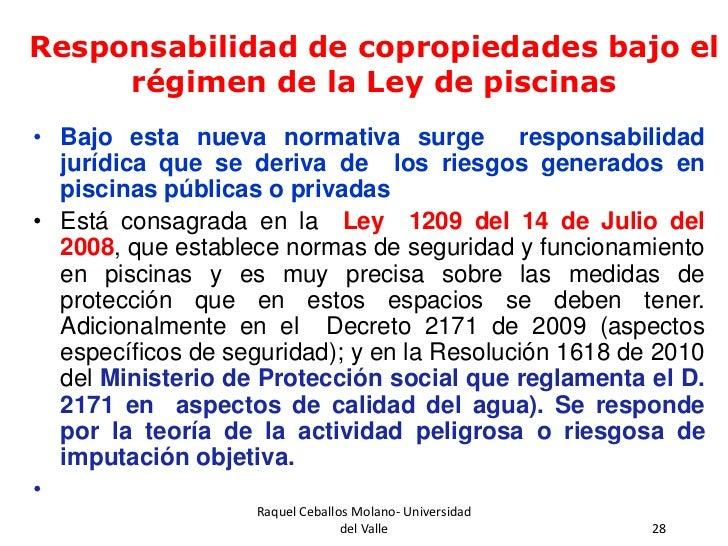 Responsabilidad civil extracontractual derivada de la ph for Normas de piscina