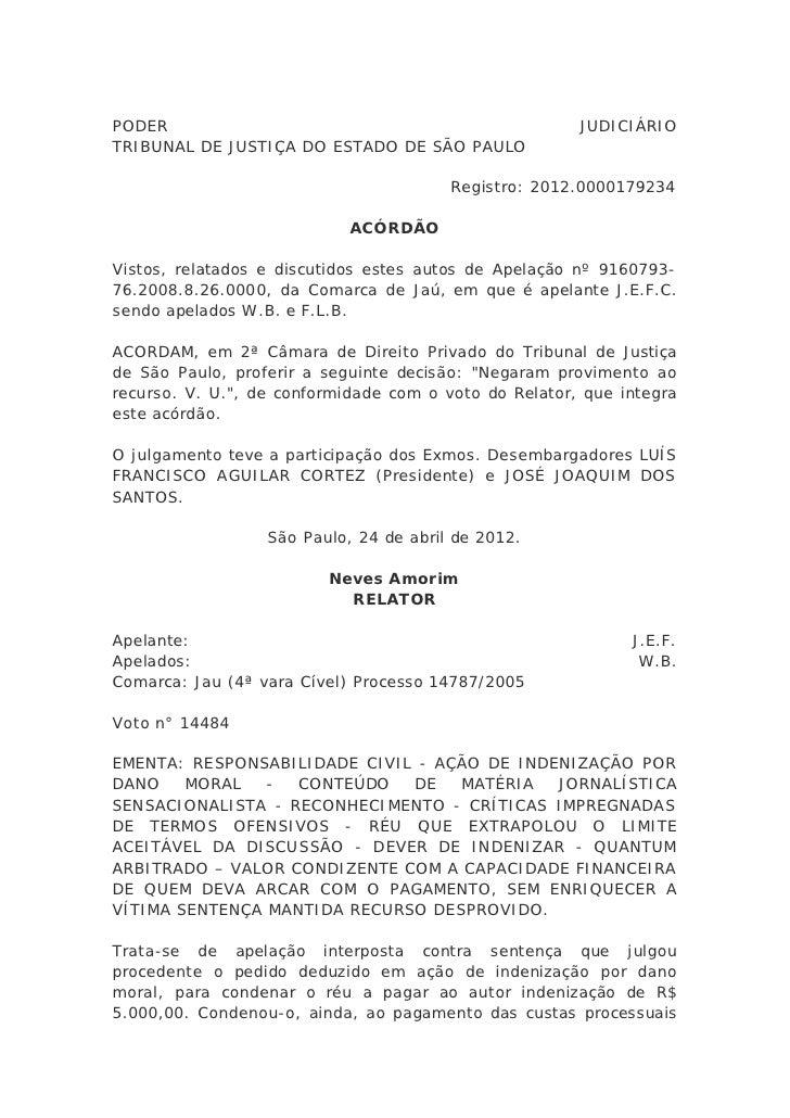 PODER                                                  JUDICIÁRIOTRIBUNAL DE JUSTIÇA DO ESTADO DE SÃO PAULO               ...