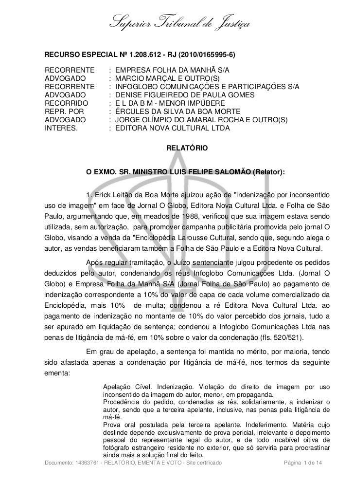 Responsabilidade civil. uso indevido da imagem. jornal