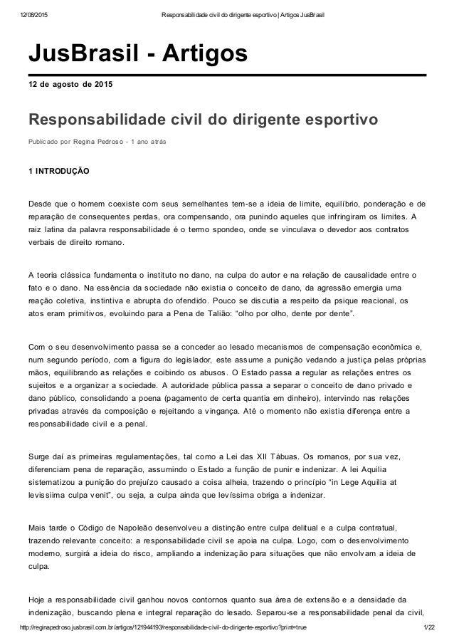 12/08/2015 Responsabilidadecivildodirigenteesportivo|ArtigosJusBrasil http://reginapedroso.jusbrasil.com.br/artigos...